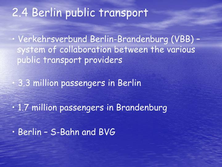 2.4 Berlin public transport