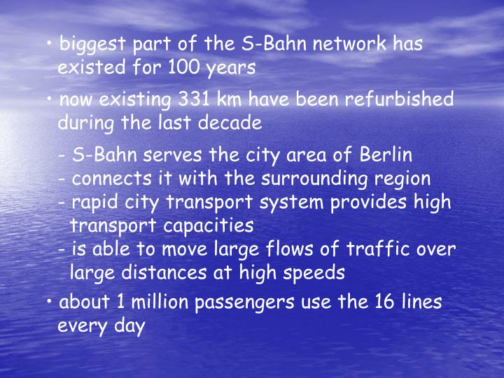 biggest part of the S-Bahn network has