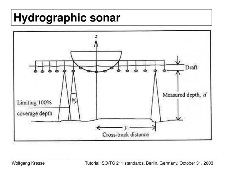 Hydrographic sonar