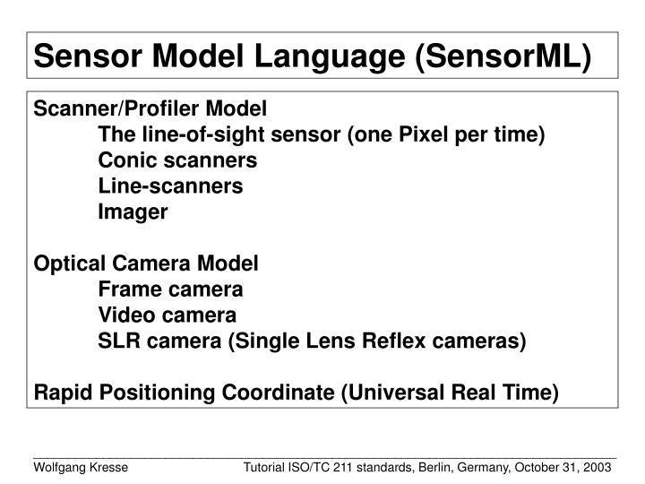 Sensor Model Language (SensorML)