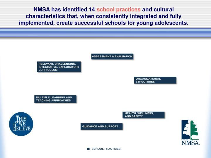 NMSA has identified 14