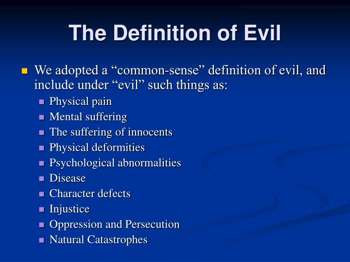 The Definition of Evil