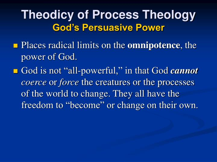 Theodicy of Process Theology