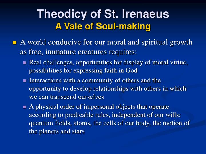 Theodicy of St. Irenaeus