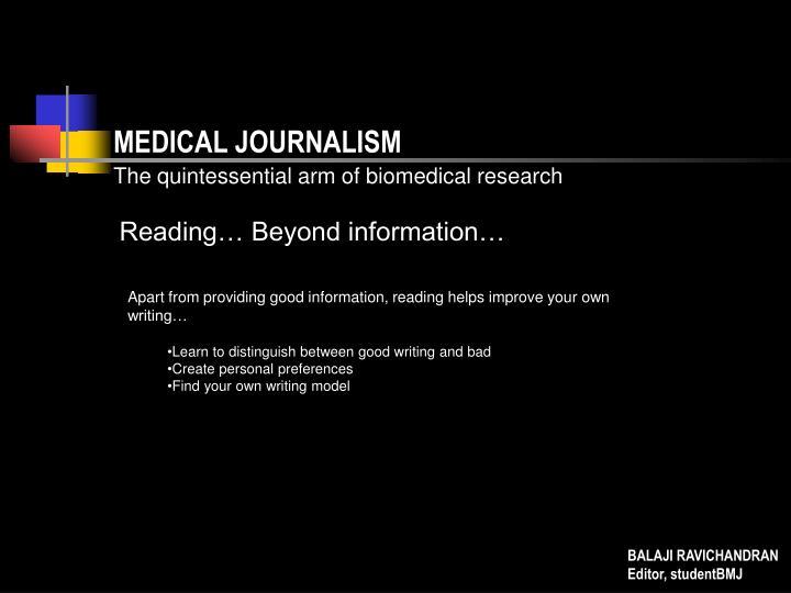 MEDICAL JOURNALISM