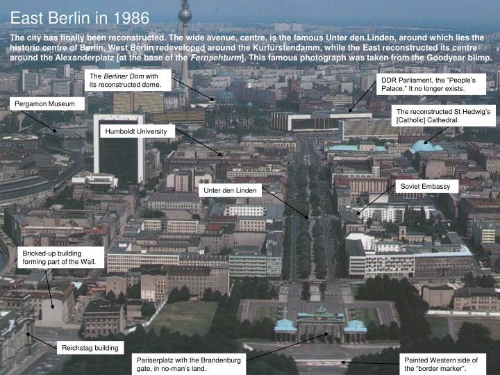 East Berlin in 1986
