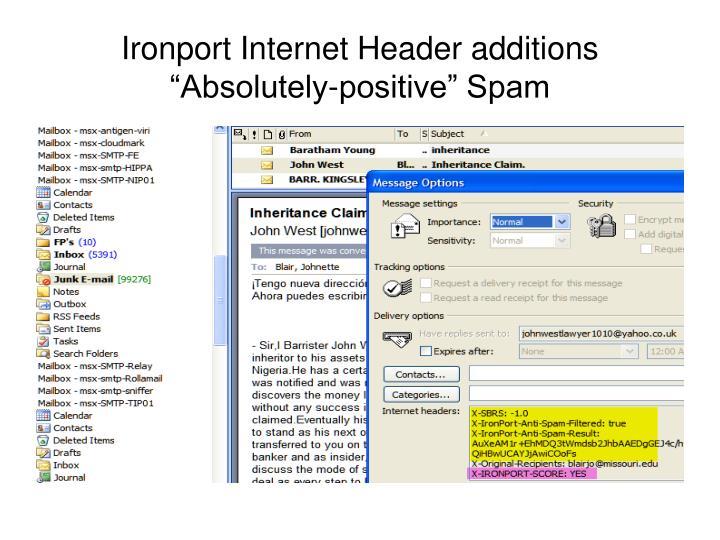 Ironport Internet Header additions