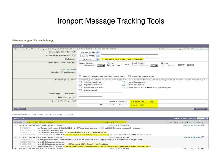 Ironport Message Tracking Tools