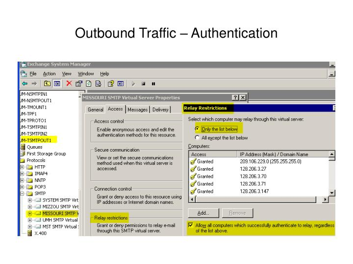Outbound Traffic – Authentication