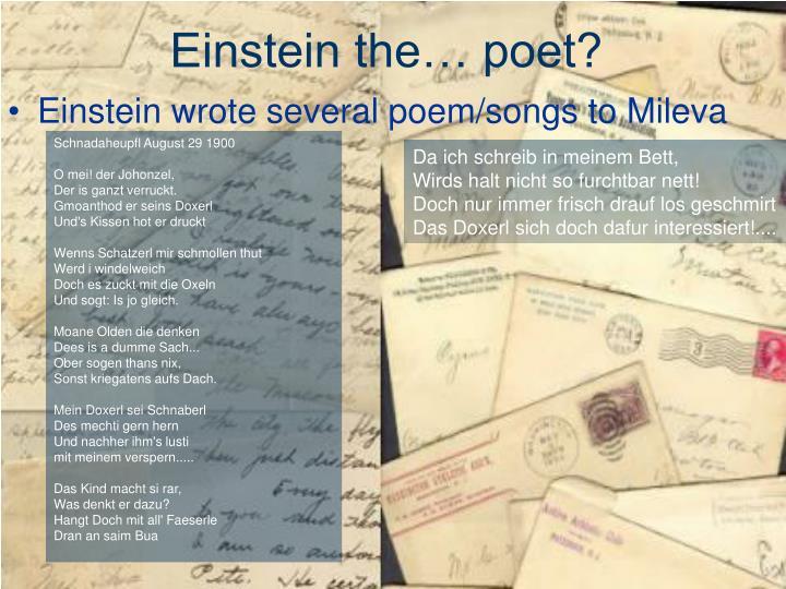 Einstein the… poet?