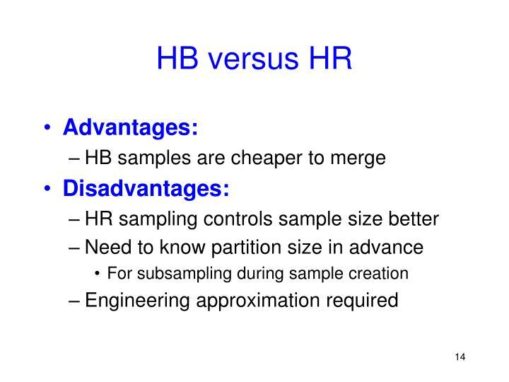 HB versus HR