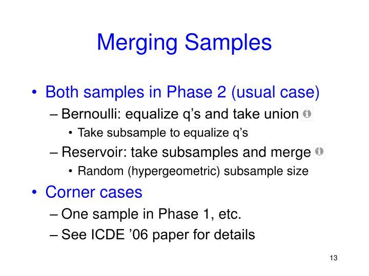 Merging Samples