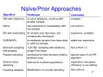 na ve prior approaches
