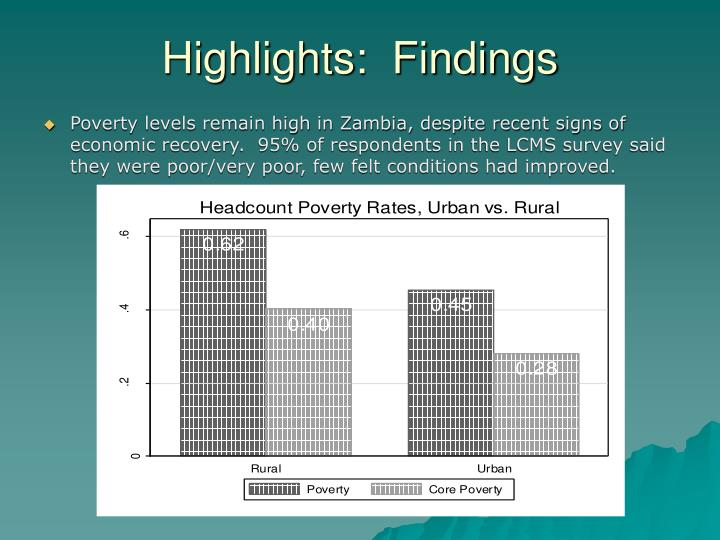 Highlights:  Findings