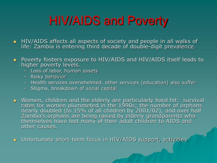 HIV/AIDS and Poverty