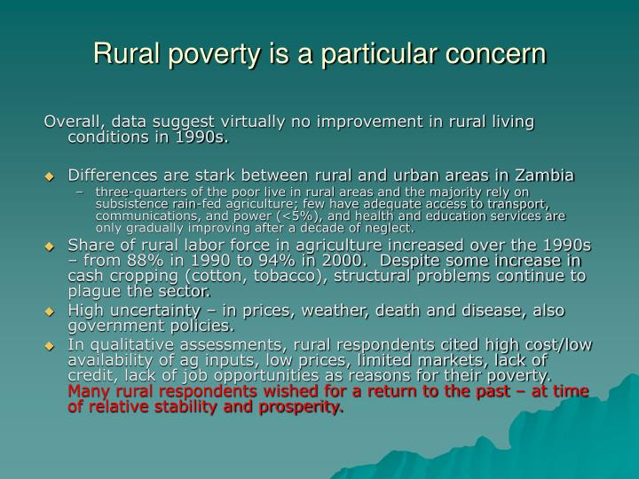 Rural poverty is a particular concern