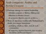 arab conquests arabia and fertile crescent