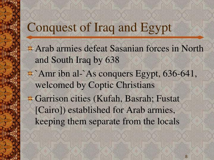 Conquest of Iraq and Egypt