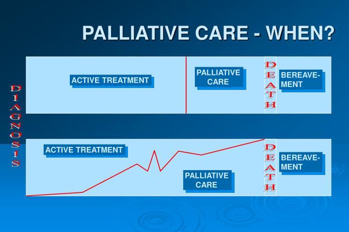 PALLIATIVE CARE - WHEN?