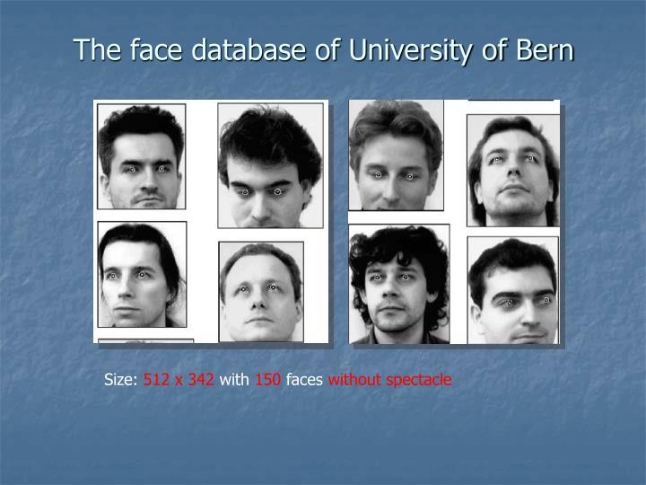 The face database of University of Bern