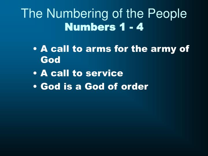 The Numbering of the People