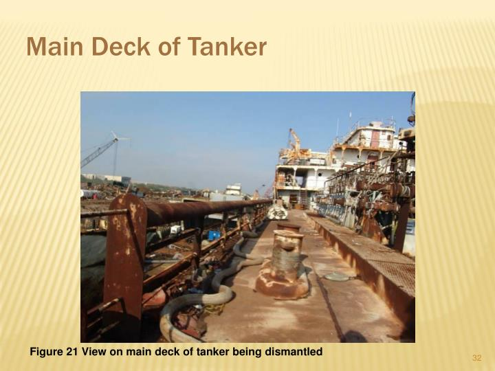 Main Deck of Tanker