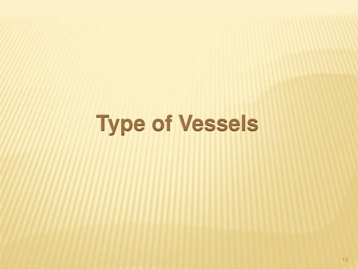 Type of Vessels
