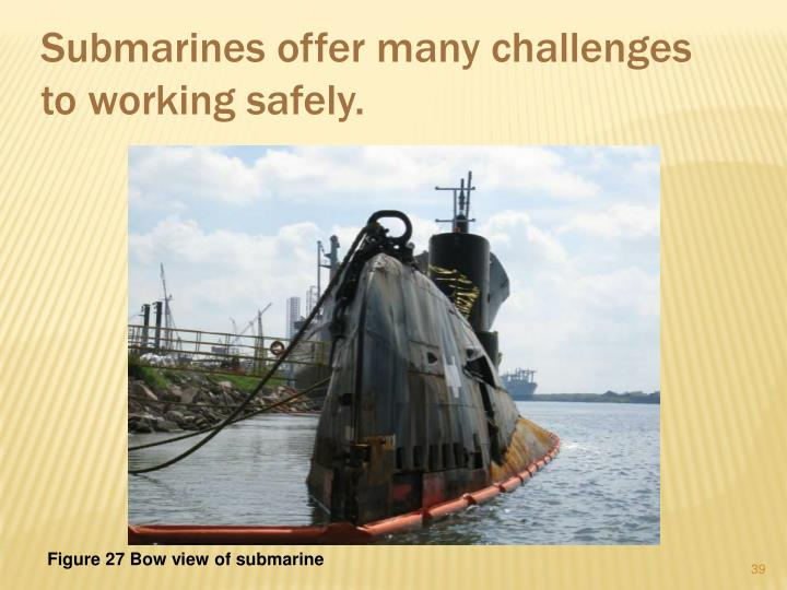 Submarines offer many challenges to working safely.