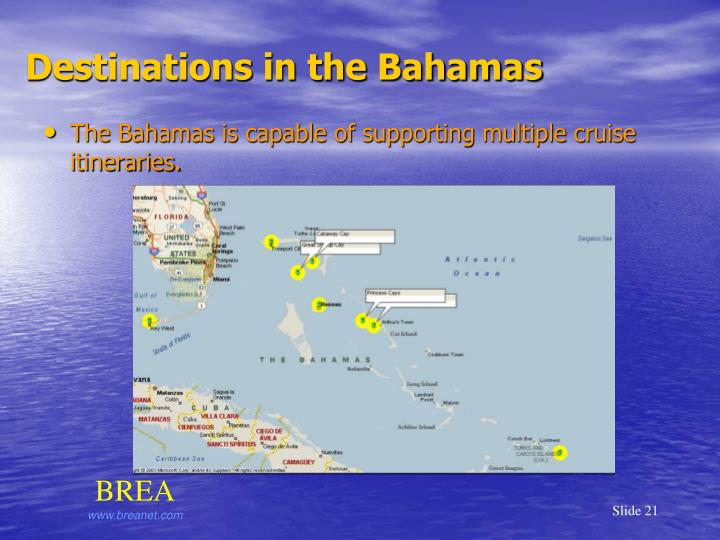 Destinations in the Bahamas