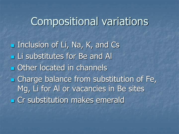 Compositional variations