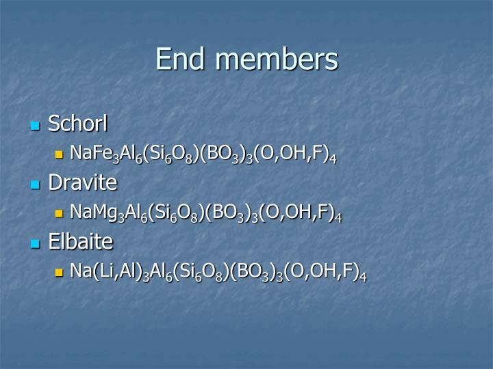 End members