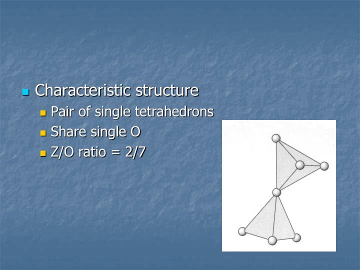 Characteristic structure