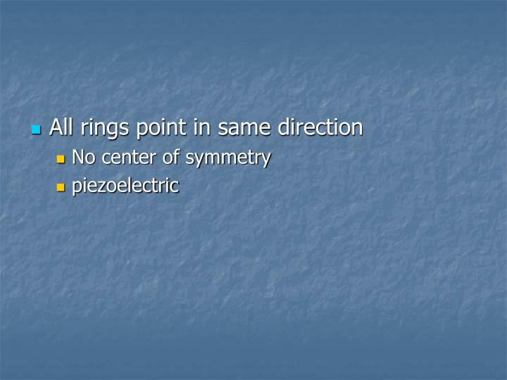 All rings point in same direction