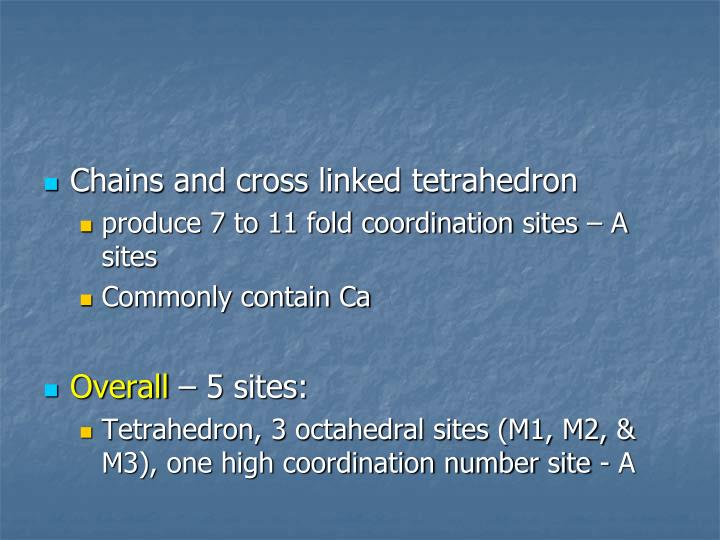 Chains and cross linked tetrahedron