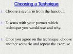 choosing a technique1