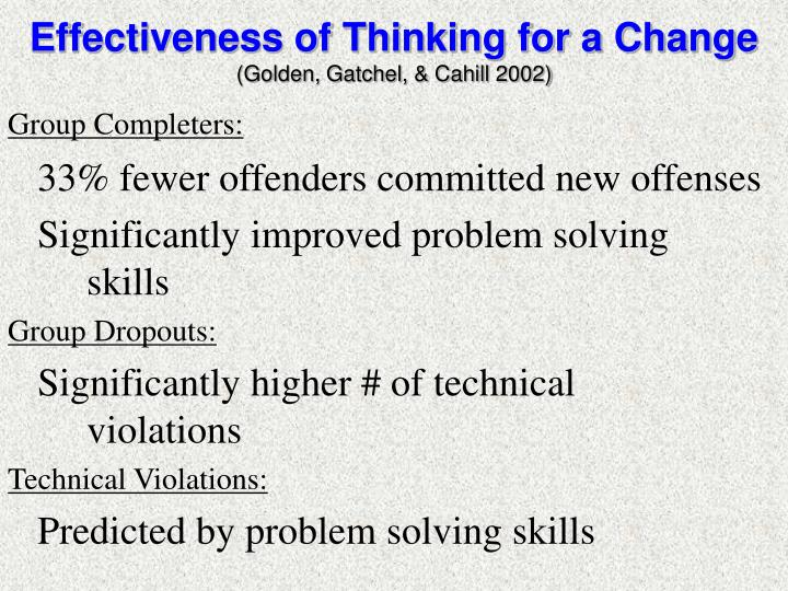 Effectiveness of Thinking for a Change