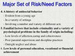 major set of risk need factors1