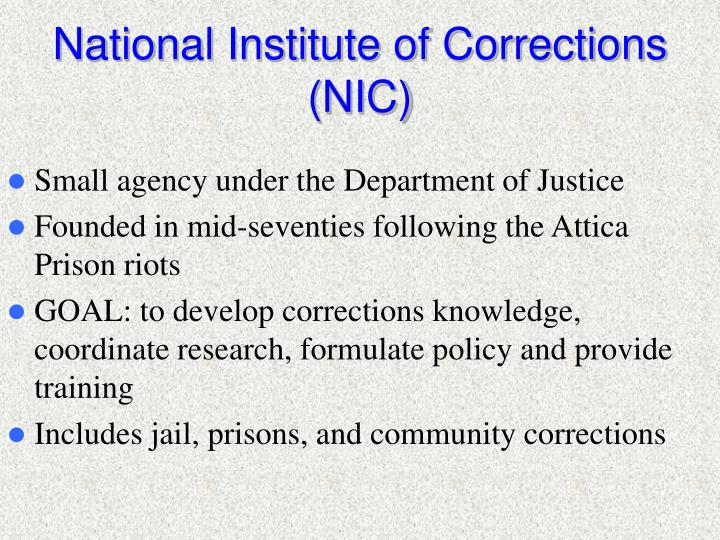National Institute of Corrections (NIC)