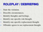 roleplay debriefing