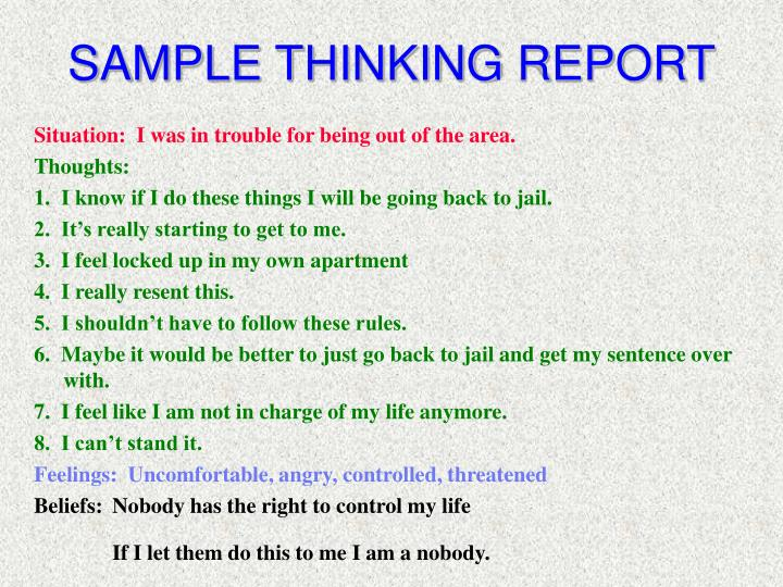 SAMPLE THINKING REPORT
