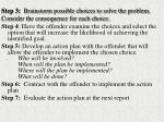 step 3 brainstorm possible choices to solve the problem consider the consequence for each choice