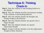 technique a thinking check in1