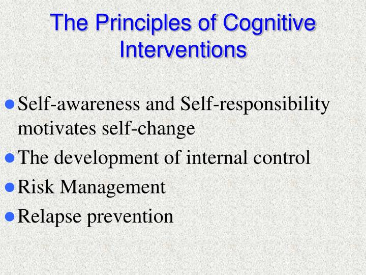 The Principles of Cognitive Interventions