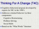 thinking for a change t4c
