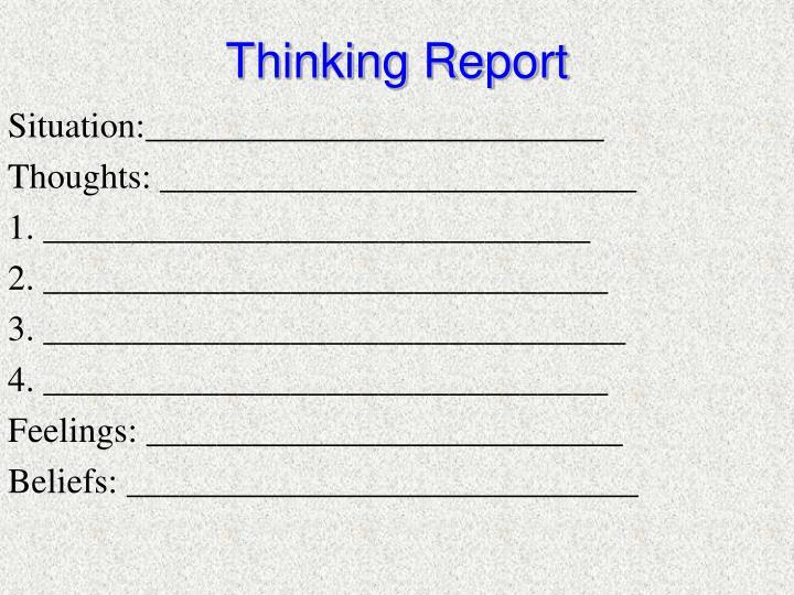 Thinking Report