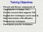 training objectives1