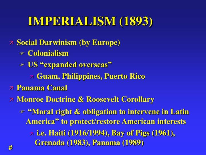 IMPERIALISM (1893)