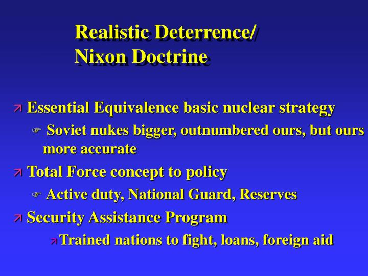 Realistic Deterrence/