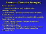 summary deterrent strategies