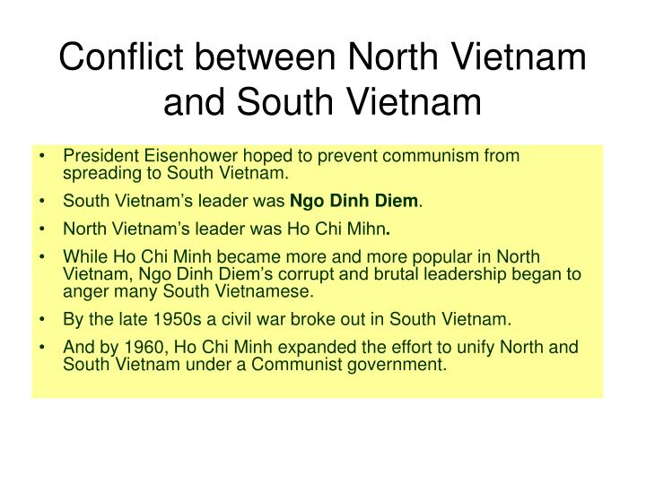 Conflict between North Vietnam